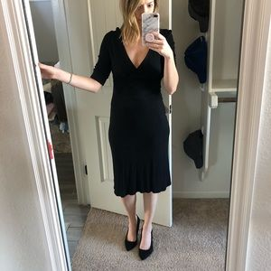 Black V-Neck Dress